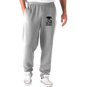 Pantaloni tuta grigio gen0557 chicago hockey