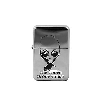 Lighter - the truth is out there high polish chrome l1