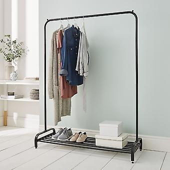 Clothes Rail In Black Powder Coating