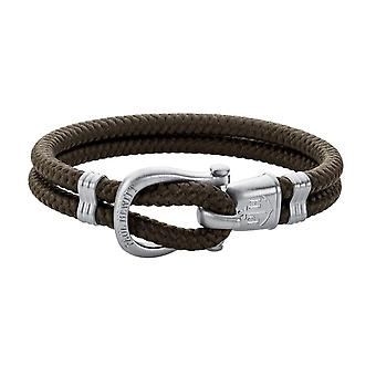 Paul Hewitt PH-SH-N-S-O Bracelet - PhINITY Nylon Olive Steel