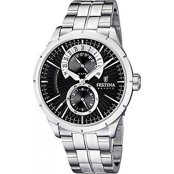 Retro-F16632-3 Festina Uhren - schwarze & weiß - Mann