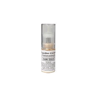 Sugarflair poeder Puff glitter stof spray Dark Gold 10g