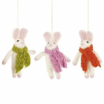 Set of Cosy Bunny Hanging Decoration| Gifts From Handpicked