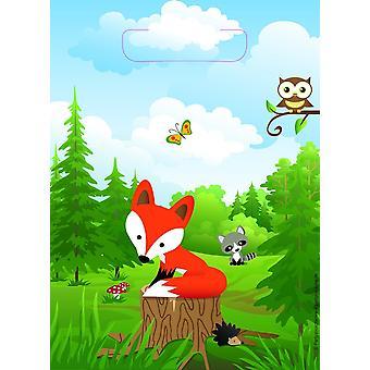 Fox Fox Party Party Bolsas 8 Piezas Schlauer Fox Party Cumpleaños de los Niños