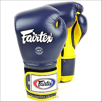 Fairtex mexican style boxing gloves - blue yellow
