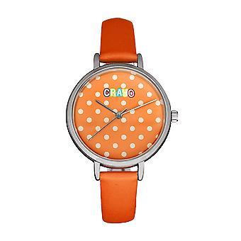 Crayo Dot Strap Watch - Orange