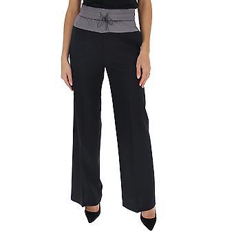 Fabiana Filippi Pad260b188c0965101 Women's Black Cotton Pants