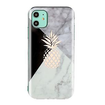 Marmor shell med ananas til iPhone 11