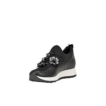 Liu Jo Ezgl060063 Women's Black Leather Slip On Sneakers
