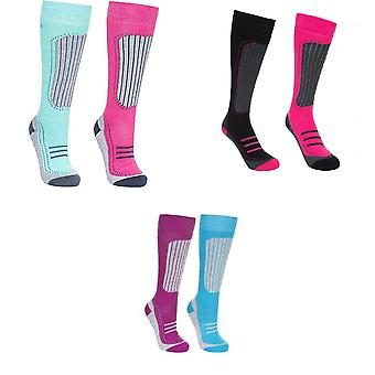 Trespass Womens/Ladies Janus II Ski Socks (Pack Of 2)