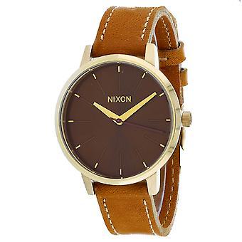 Nixon Women's Kensington Leather Brown Watch - A108-2804