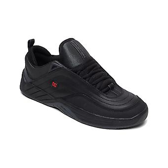 DC Williams Slim Trainers in Black/Dk Grey/Athletic Red
