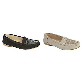 Boulevard Womens/Ladies Apron Diamante Casual Slip On Shoes