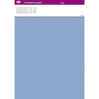Pergamano Translucent Paper Ice Blue A4 150 gsm 5 Sheets (63020)