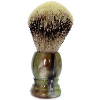 Gold Badger shaving brush with Badger silver tip, plastic handle