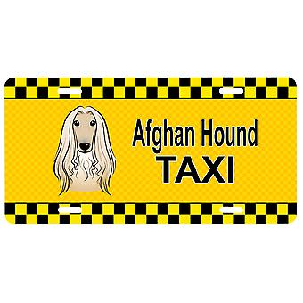 Carolines Treasures  BB1368LP Afghan Hound Taxi License Plate