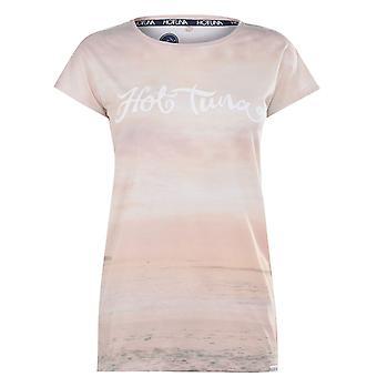 Hot Tuna Womens T Shirt Crew Neck T-Shirt Tee Top Ladies