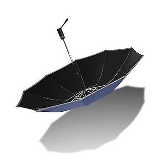 Guarda-chuva reverso com fechamento reverso - azul