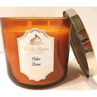 Bath & Body Works White Barn Cider Lane 3 Wick Scented Candle 14.5 oz / 411 g