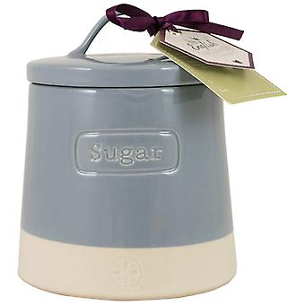 English Tableware Co. Artisan Sugar Canister, Blue
