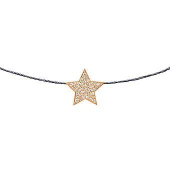 Choker Star 18K Goud en Diamanten, op Thread - Rose Gold, London Grey