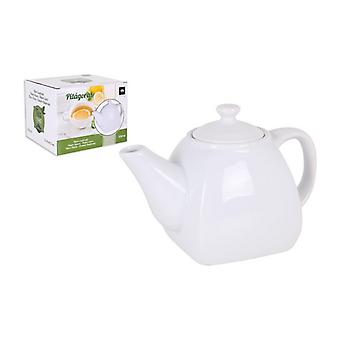 Teapot La Mediterránea Pitágoras Porcelain White/300 ml - 16 x 8,5 x 10 cm