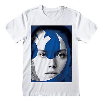 Star Wars L'ascesa di Skywalker Rey Resistenza Logo Uomo' T-Shirt Merchandise Ufficiale