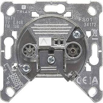 Triax FS 01 Antenna socket FM, TV Flush mount Terminated