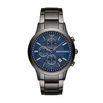 Emporio Armani AR11215 Chronograph الأزرق الاتصال الأزرق Gunmetal Strap Men & apos;s Watch