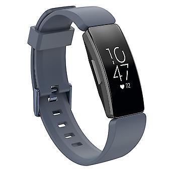 Ersatz Armband Armband Armband band für Fitbit Inspire / 2 / HR / Ace 2[grau, groß]