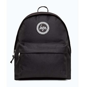 Hype Badge School Sports Gym Backpack Rucksack Bag Black