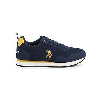 U.S. Polo Assn. - Shoes - Sneakers - NOBIL4250S0_MH1_BLU-YEL - Men - navy,yellow - EU 44
