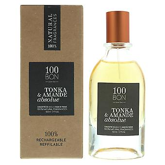 100Bon Tonka & Amande Absolue Concentre Eau de Parfum Spray 50ml Refillable