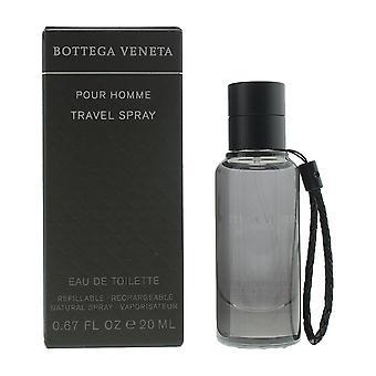 Bottega Veneta Pour Homme Eau de Toilette 20ml Refillable Travel Spray For Him