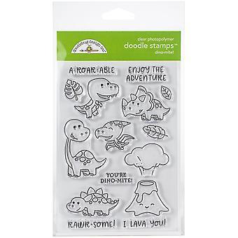 Doodlebug Clear Doodle Stamps - Dino-Mite!