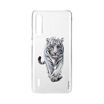 Hull For Xiaomi Mi 9 Lite Souple Hvit Tiger