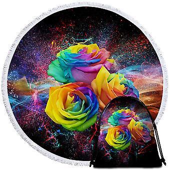 מגבת חוף ורדים צבעוניים