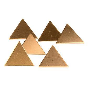 Kupfer Blanks Dreieck Pack von 6 21mm