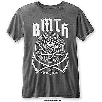 Grå bringe meg horisonten crooked unge offisielle t-skjorte unisex