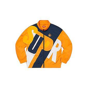 Supreme Big Letter Track Jacket Dark Orange - Clothing