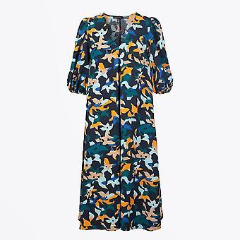 Stine Goya - Robe à imprimé floral abstrait mavelin - Marine/Multi