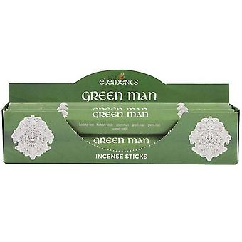 Elements Green Man Incense Sticks (Box Of 6 Packs)