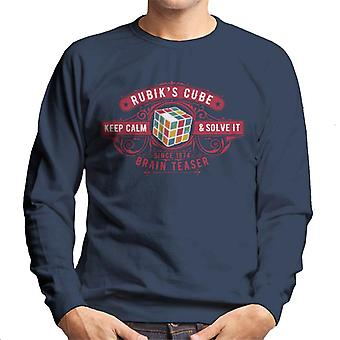 Rubik's Cube houden kalm en op te lossen het Brain Teaser mannen Sweatshirt
