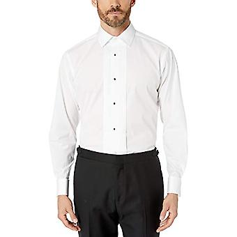 """Brand - Buttoned Down Men's Classic Fit Easy Care Bib-Front Spread-Collar Tuxedo Shirt, White 17"""" Neck 34"""" Sleeve"""