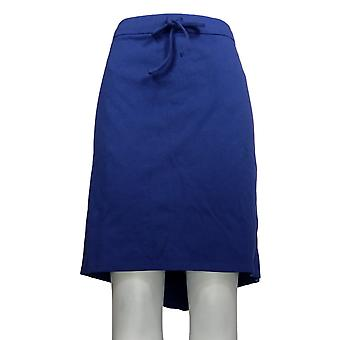 Liz Claiborne New York Plus Rock Pull-On Ponte stricken Skort blau A253177