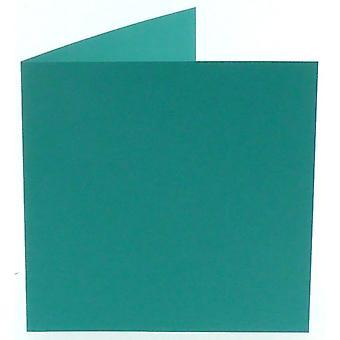 Papicolor Türkis Quadrat Doppelkarten