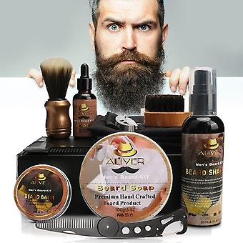 Beard Styling Care Cleaning Kit Comb Brush Cream Shampoo