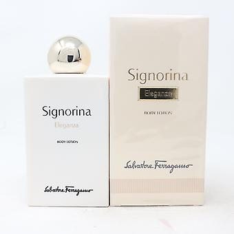 Salvatore Ferragamo Signorina Eleganza Body Lotion 6.8oz/200ml Nytt med box