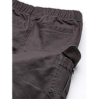 Essentials Boys' Big Cargo Pants, Dark Grey, Large