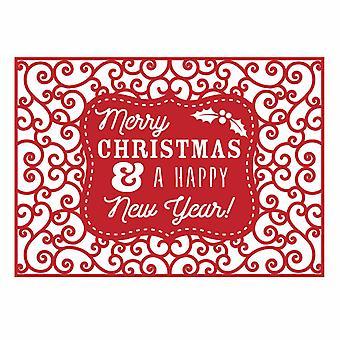 Primeira Edição De Natal Ofício um Cartão Morrer - Feliz Ano Novo